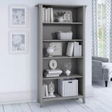 Red Barrel Studio® Shelf Bookcase In Cape Cod Gray Wood in Brown, Size 62.95 H x 31.73 W x 12.17 D in | Wayfair 51EF10E0A79B49DFA6D2384424D3D023