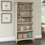 Red Barrel Studio® Shelf Bookcase In Vintage Black Wood in White, Size 62.95 H x 31.73 W x 12.17 D in | Wayfair F459C8A2D93045609D96D61EB772A184