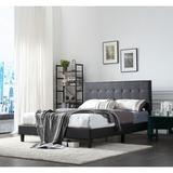 Red Barrel Studio® Bed Frame Set, Beds Headboard & Platform & Slats Wood & Upholstered/Upholstered/Faux leather in Black | Wayfair