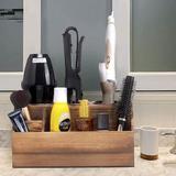 Loon Peak® Monahans Hair Tool Organizer in Brown, Size 5.75 H x 11.8 W x 7.25 D in   Wayfair B78336C35D7149289DD334B0F97F2B44