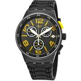 Pneumatic Chronograph Black Dial Watch - Black - Swatch Watches