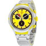 Darkony Chronograph Yellow Dial Aluminium Watch - Yellow - Swatch Watches