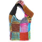 Bohemian Crossbody Shoulder Razor Cut Purse Sling Hippie Handbag