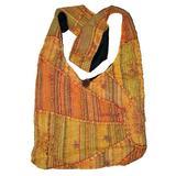 Orange Embroidered Peace and Sunrise Sling Boho Purse Handbag