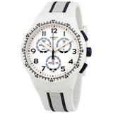 Escalator Chronograph Dial Watch - White - Swatch Watches