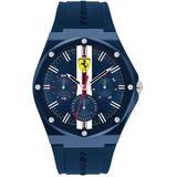 Aspire Blue Silicone Strap Watch 44mm - Blue - Ferrari Watches