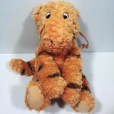 Disney Toys | Disney * Classic Pooh * Pull String Cord Music Box Tigger Plush Toy Winnie Bear | Color: Black/Orange | Size: Osb