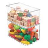 "Rebrilliant Plastic Stackable Closet Storage Bin Box w/ Lid, 7"" H, 4 Pack - Clear Plastic, Size 7.0 H x 7.25 W x 12.75 D in   Wayfair"