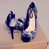 Nine West Shoes | Nine West Peep Toe Pump | Color: Black/Blue/Green/Red | Size: 9.5