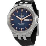 Automatic Blue Dial Watch 3ca Buir - Blue - Edox Watches