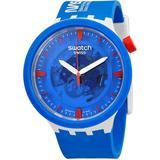 Jumpsuit Quartz Blue Dial Watch - Blue - Swatch Watches