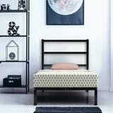 17 Stories Twin/Full/Queen Size Metal Bed Platform Frame w/ Headboard-Full Size Wood in Black/Brown, Size 44.0 H x 39.0 W x 75.5 D in   Wayfair