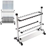 WFX Utility™ Fishing Rod Rack Fishing Rod Holders/Rests 24 Rods Aluminum Alloy Fishing Pole Rack Organizer Portable For Types Of Fishing Rods