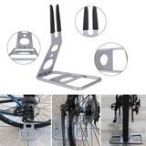 Arlmont & Co. Bicycle Floor Stand Bike Display Rack Storage Holder Repair Power Coated Steel in Gray, Size 8.26 H x 14.9 W x 11.4 D in   Wayfair