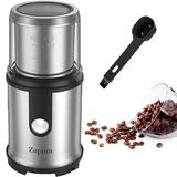 Zeonetak Fast Electric Coffee Grinder Stainless Steel Blade Coffee & Spice Grinder w/ 2.5 Oz Removable Cup in Gray, Size 10.0 H x 5.9 W x 5.9 D in