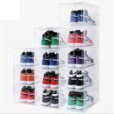 Rebrilliant Foldable Shoe Box Stackable Clear Shoe Storage Box Storage Bins Shoe Container Organizer Shoe Rack For Closet | Wayfair