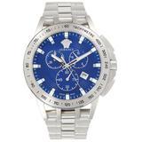 Stainless Steel Chronograph Watch - Metallic - Versace Watches