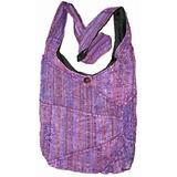 Lavender Embroidered Peace and Sunrise Crossbody Purse Boho Handbag