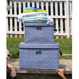 SCOUT Bags Storage Boxes Crocotile - Crocotile Navy Large Storage Bin