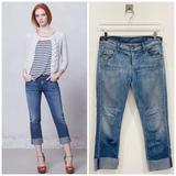 Anthropologie Jeans   Citizens Of Humanity Dani Cropped Straight Leg Jeans Cotton 27 Medium Wash   Color: Blue   Size: 27