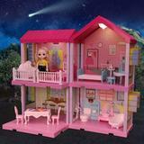Guzhai Dreamhouse Dollhouse Kit, Doll House Asseccories & Furniture, DIY Pretend Play Building Playset Toys w/ Doll & Lights | Wayfair