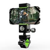 KATIER Bike Phone Mount, Bicycle & Motorcycle Handlebar Cell Phone Holder Universal w/ 360° Rotation For Phone 11/Phone 11 Pro Max, S9 in Black/Green