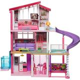 Xiangong Dreamhouse Dollhouse w/ Wheelchair Accessible Elevator, Pool, Slide & 70 Accessories Including Furniture & Household Items   Wayfair