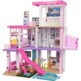 Xiangong Barbie Dreamhouse (3.75-Ft) 3-Story Dollhouse Playset w/ Pool & Slide, Party Room, Elevator, Puppy Play Area, Customizable Lights & Sounds