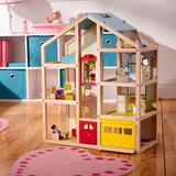 Xiangong Melissa & Doug Hi-Rise Wooden Dollhouse w/ 15 Pcs Furniture - Garage & Working Elevator, Size 30.0 H x 23.75 W x 13.0 D in   Wayfair