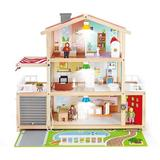Xiangong Doll Family Mansion| Award Winning 10 Bedroom Doll House, Wooden Play Mansion w/ Accessories For Ages 3+ Years Multicolor, L: 31.6, W: 11.4