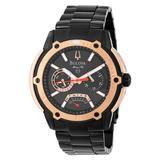 Bulova Men's 98C106 Marine Star Black Dial Bracelet Watch