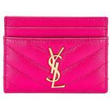 Monogramme Card Case - Pink - Saint Laurent Wallets