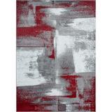 shanglixiansenxinmaoyi Abstract Area Rug Soft & Plush Rug in Red, Size 109.0 H x 78.0 W x 0.5 D in | Wayfair sXYZ00012