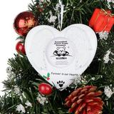 Maxora Personalized Ornaments Christmas Ornament Forever In Our Hearts Photo Frame in White   Wayfair PR916
