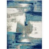 shanglixiansenxinmaoyi Abstract Area Rug Soft & Plush Rug in Blue, Size 109.0 H x 78.0 W x 0.5 D in | Wayfair sXYZ00009