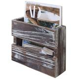 Gracie Oaks Wall Magazine Document Basket Rack in Brown, Size 3.0 H x 10.0 W x 7.8 D in | Wayfair 2E689D8F8AEC4F9395F8890249894F53