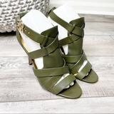 Coach Shoes   Coach Mila Strappy Leather Stiletto Heels Olive Green Size 8.5m   Color: Green   Size: 8.5