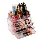 Rebrilliant Makeup Storage Box Acrylic Cosmetics Storage Drawer & Jewelry Display Box in Pink, Size 10.1 H x 11.0 W x 5.9 D in   Wayfair