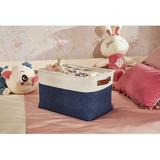 Latitude Run® Foldable Storage Bin | Collapsible Sturdy Fabric Storage Basket Cube W/Handles For Organizing Shelf Nursery Toy Closet in Blue Wayfair