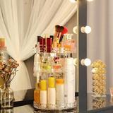Rebrilliant Makeup Organizer 360 Degree Rotating Transparent Waterproof, Size 11.2 H x 8.2 W x 8.2 D in   Wayfair 8C81E9F2FEB24B9EBDB25359125DAADD