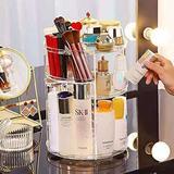 Rebrilliant Makeup Storage Box, 360 Degree Rotation Makeup Storage Box DIY Adjustable Cosmetics Storage Display Cabinet, 6 Layers Of Large Capacity