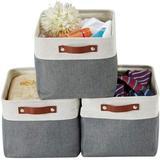 Latitude Run® Foldable Storage Bin | Collapsible Sturdy Fabric Storage Basket Cube W/Handles For Organizing Shelf Nursery Toy Closet in Gray Wayfair