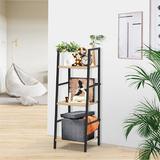 17 Stories 3-Tier Ladder Shelf Bookcase, Living Room Rustic Standing Shelf Storage Organizer, Wood & Metal Shelf For Home & Office | Wayfair in Brown