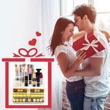 Rebrilliant Makeup Storage Rack Acrylic Transparent: Cosmetics Storage Cabinet w/ Drawers, Size 7.48 H x 9.37 W x 5.27 D in   Wayfair