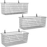 Rebrilliant 3 Set [Extra Large] Hanging Wall Basket For Storage, Wall Mount Sturdy Steel Wire Baskets, Metal Hang Cabinet Bin Wall Shelves in Gray