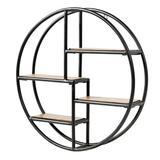 17 Stories Hanging Storage Shelf Circular Wall-Mounted 4-Tier Rack, Size 22.0 H x 22.0 W x 4.5 D in | Wayfair 9305C8B3C0324E169D959D8CF1BC2030
