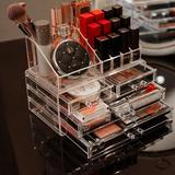 Rebrilliant Makeup Storage Box & Storage Can Be Stacked Skin Care Cosmetics Display Cabinet, Size 7.4 H x 9.5 W x 6.0 D in | Wayfair