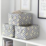 Corrigan Studio® Storage Basket Fabric Basket Large Storage Basket w/ Lid,Collapsible Basket Decorative Basket For Shelves Cloth Basket For Storage