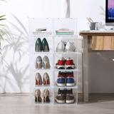 Rebrilliant Shoe Storage Box,Shoe Box Clear Plastic Stackable,Drop Front Shoe Box w/ Clear Door,Shoe Organizer & Shoe Containers For Sneaker Display
