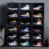 Rebrilliant Stackable Drop Front Magnetic Side Open Shoe Organizer   Shoe Rack Organizer   Shoe Storage Box w/ Clear Front   Clear Shoebox For Sneakers